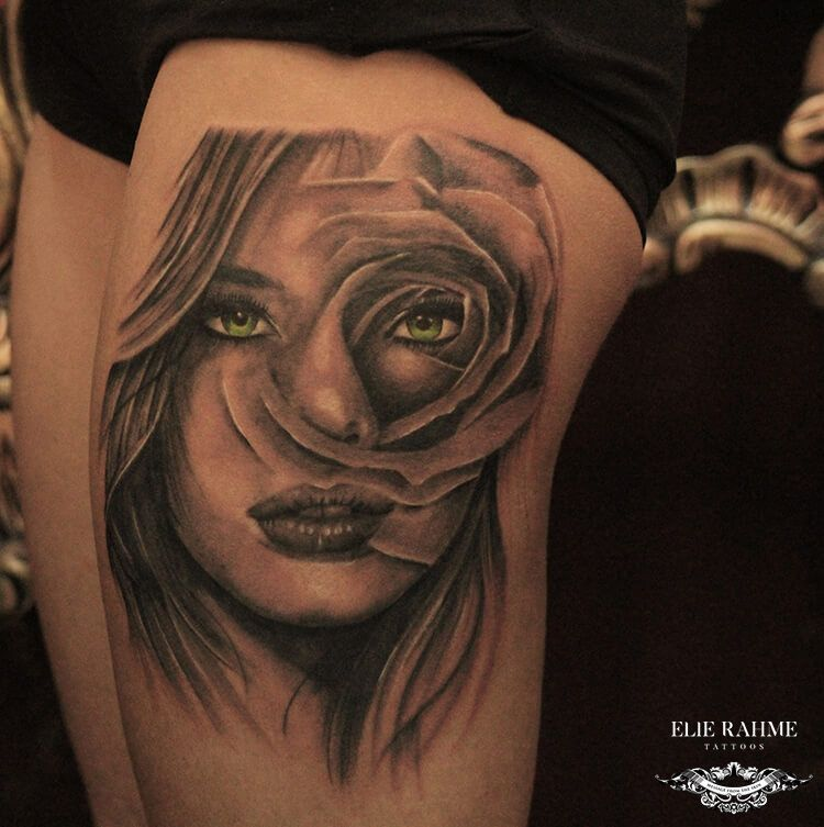 Elie Rahme Tattoos: Floral Eyes