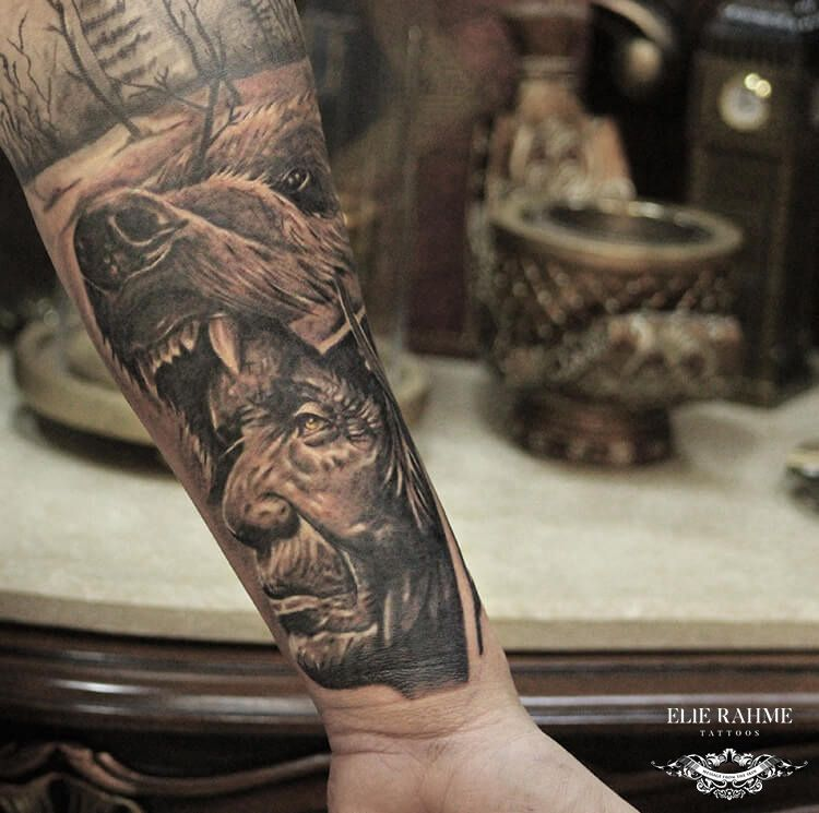Elie Rahme Tattoos: American Native Portrait