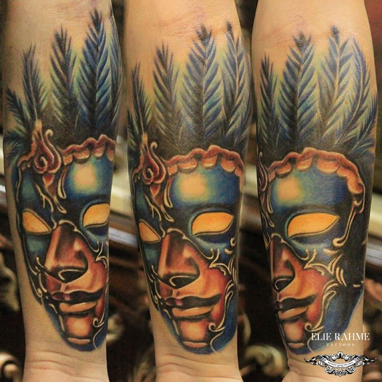 Elie Rahme Tattoos: Colored Masquerade